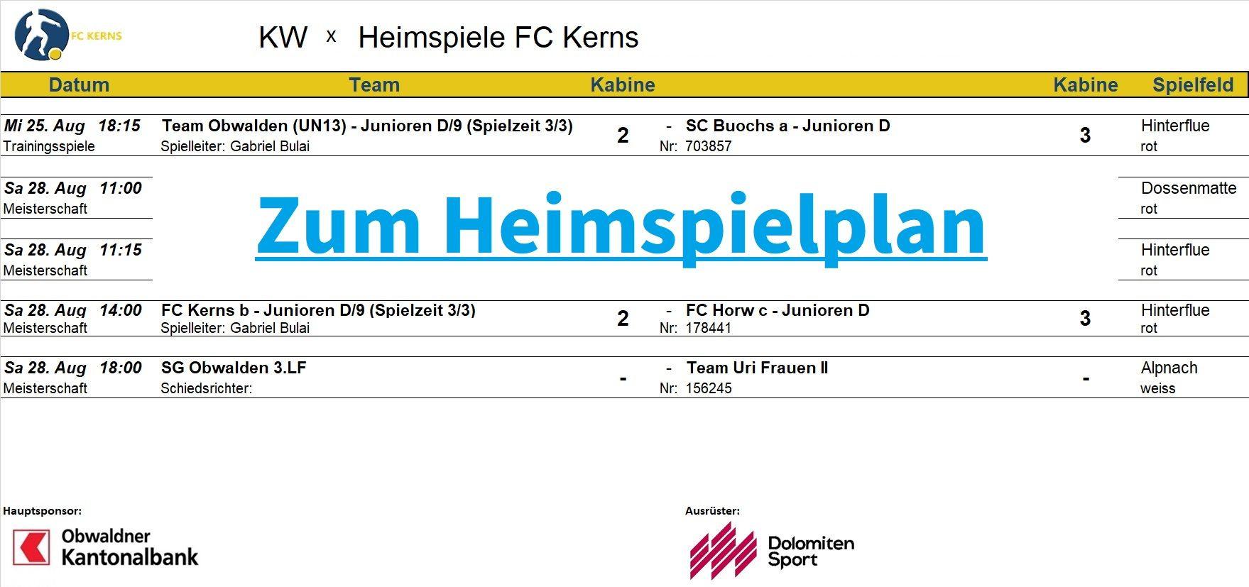 Aktuell | FC Kerns