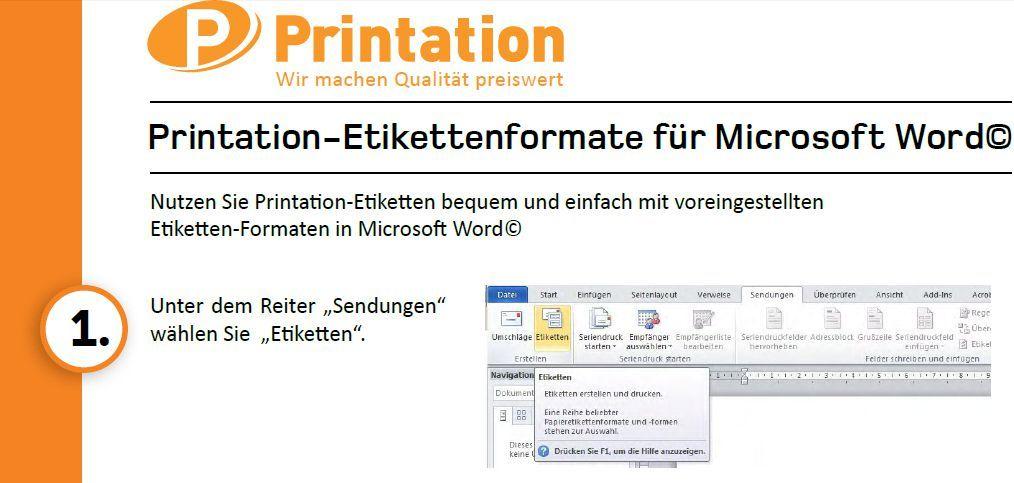Printation Etiketten Vorlagen | IntuiFlex
