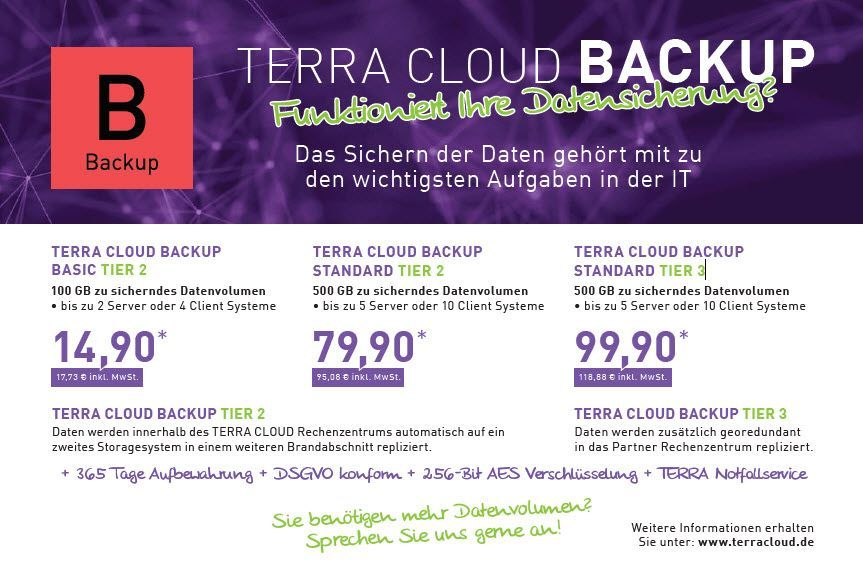 TERRA Cloud Backup