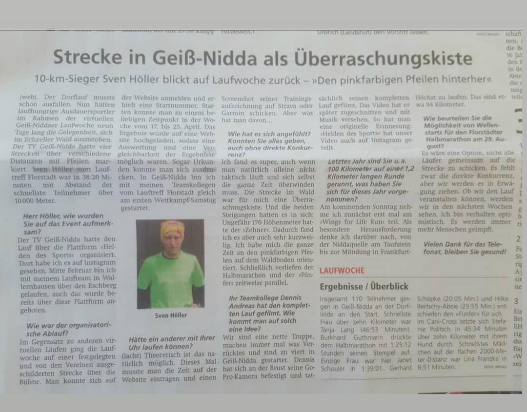 Aktuelle Neuigkeiten | Lauftreff LT Florstadt e.V.