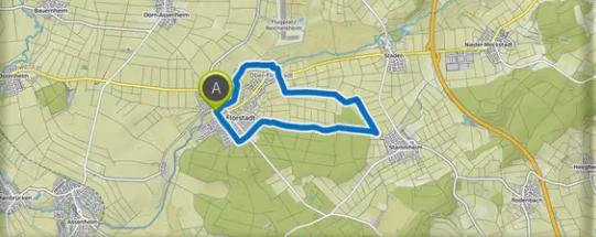 Laufstrecken rund um Florstadt