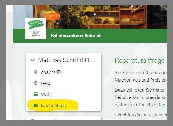 Reparaturanfrage | Schuhmacherei Schmid