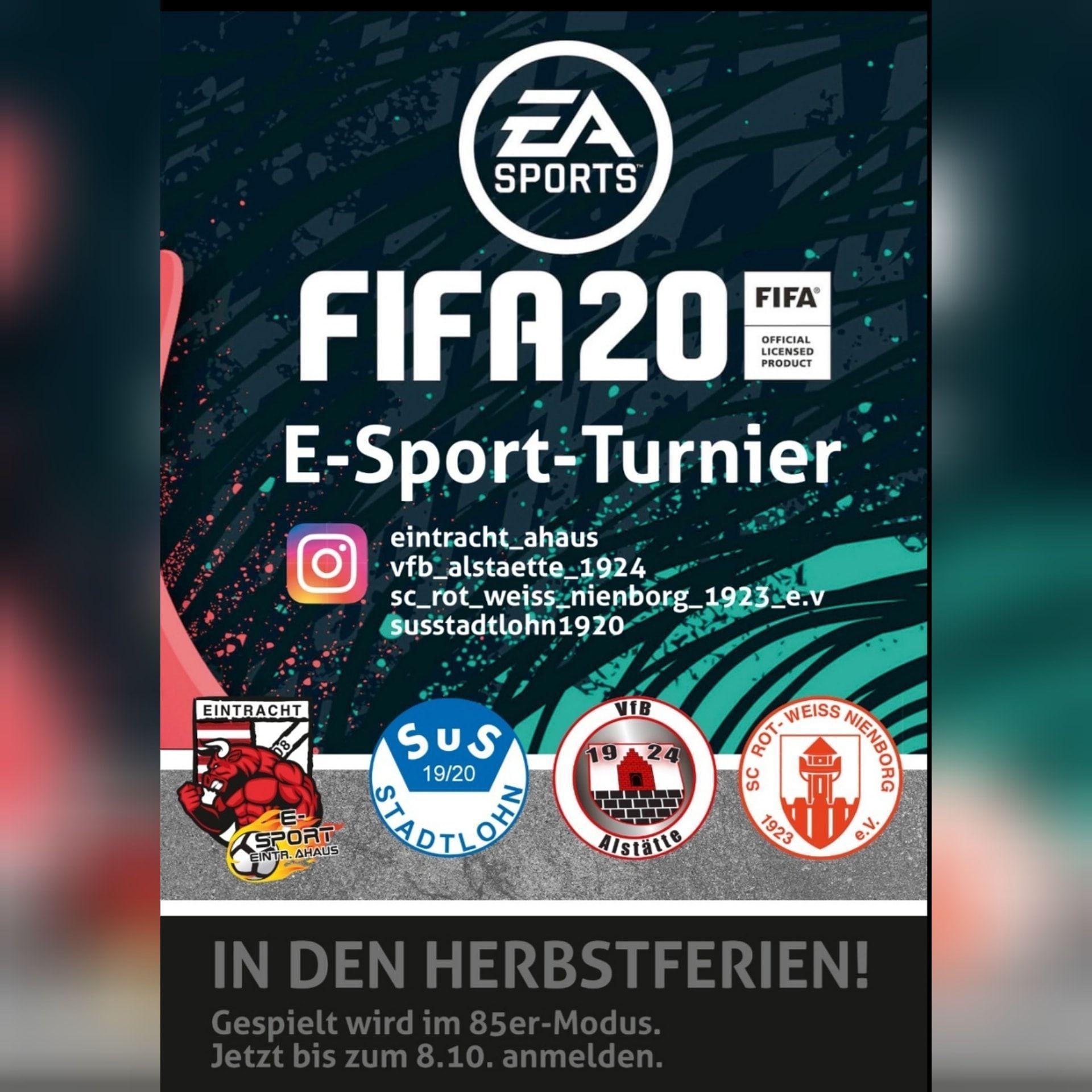 FIFA 20 Turnier - esports | VfB Alstätte 1924 e.V.