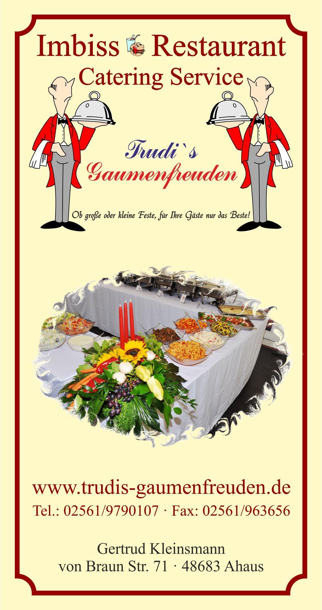 Menüvorschläge für Ihre Feste - Catering Karte