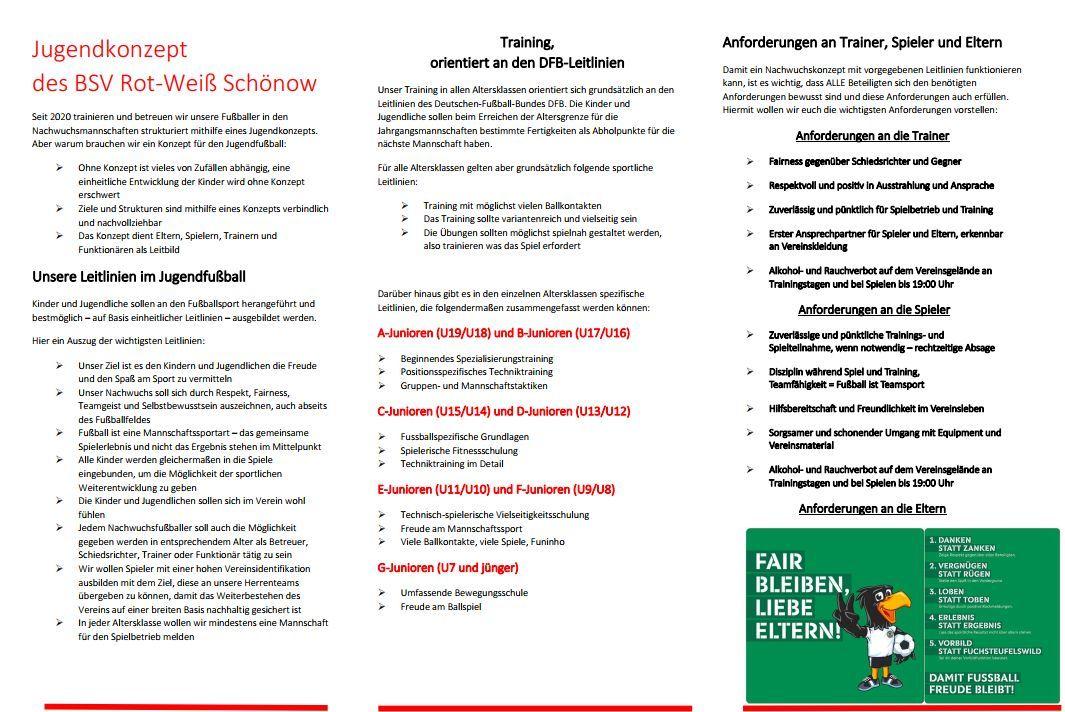 Nachwuchskonzept | BSV Rot Weiß Schönow