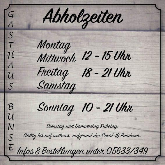 Aktuell | Gasthaus Bunse