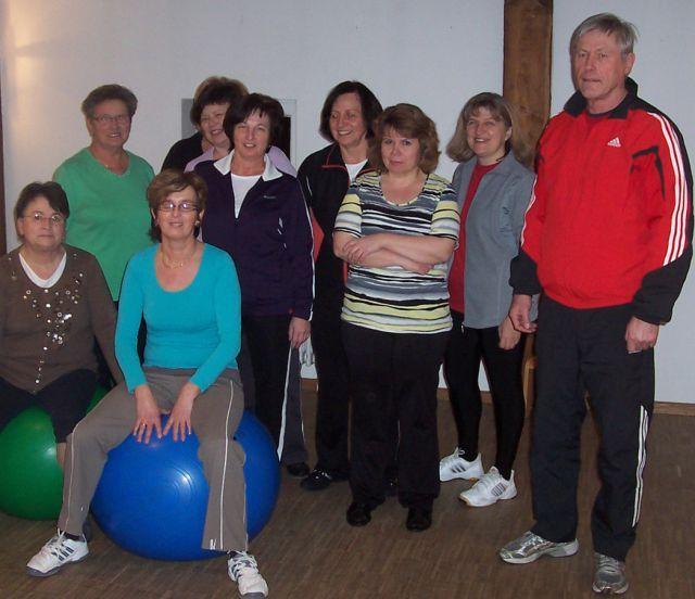 Fitness-Abteilung: Wirbelsäulengymnastik
