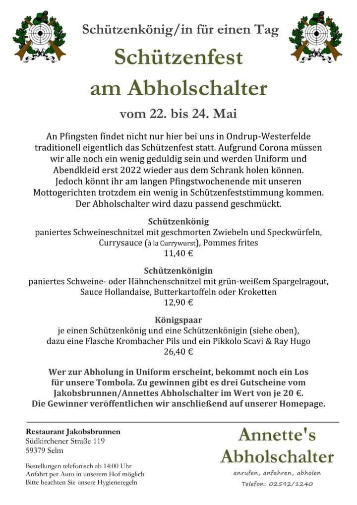 Aktuell | Schützenverein Ondrup Westerfelde 1888