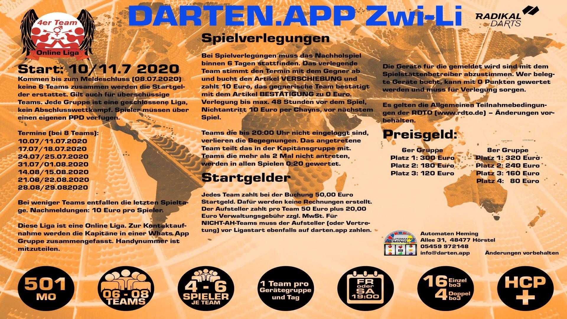 Zwi Li, die Zwischenliga von darten.app - Zwi-Li