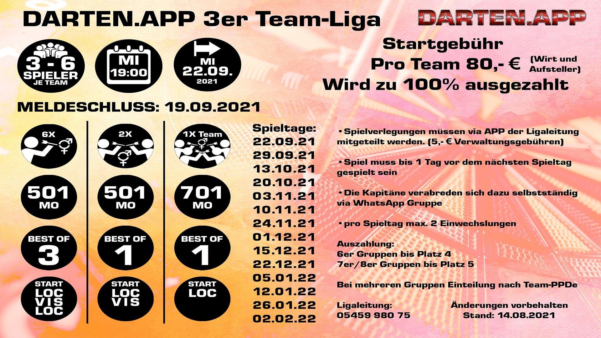 Darten.App 3er Team Liga