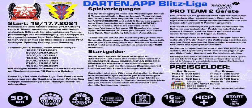 Blitz-Liga | darten.app by Automaten Heming,