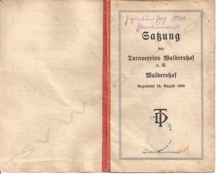 Chronik - Historie | TSV Waldershof 1906 e.V.