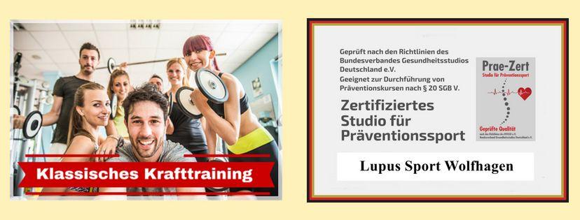 KLASSISCHES KRAFTTRAINING MIT UNS | Lupus Sport