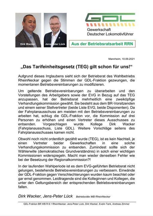 Aktuelle Neuigkeiten | GDL Heidelberg