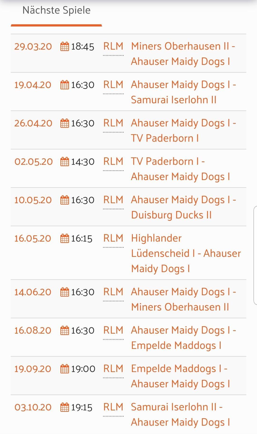 Erste Mannschaft | Ahauser Maidy Dogs e.V.