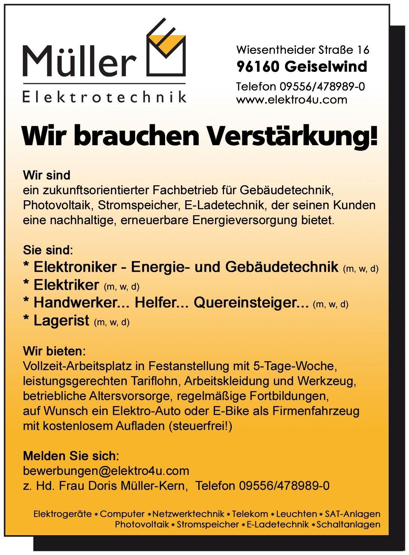 Aktuell | Elektrotechnik Müller
