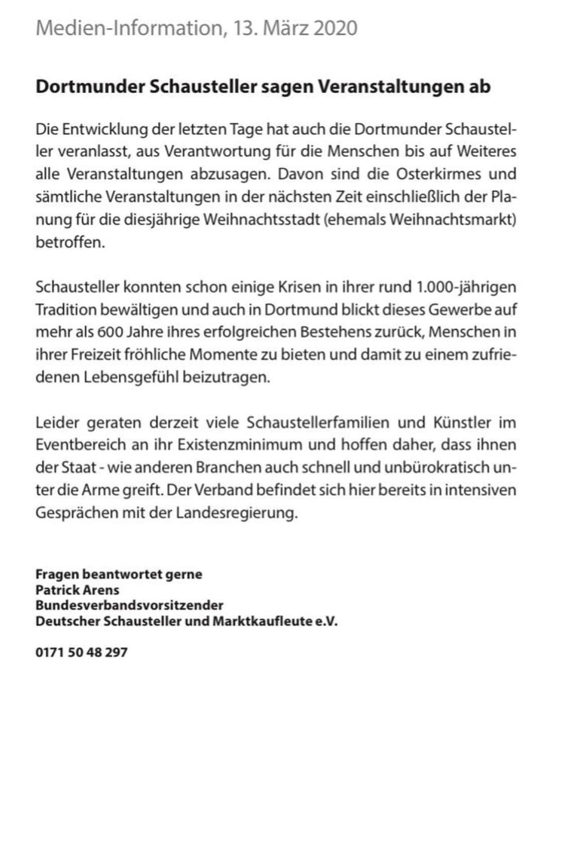 Presse-News | Schaustellerverein Rote-Erde