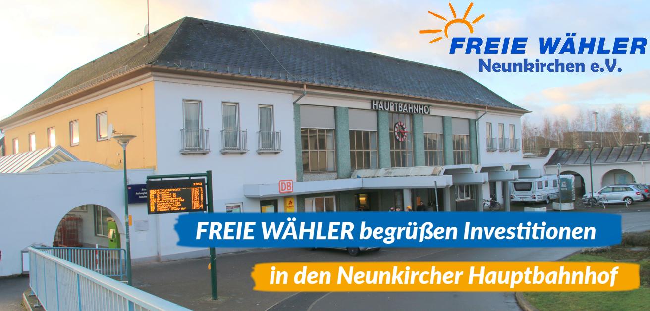 Weitere Investitionen in den Neunkircher Hauptbahnhof