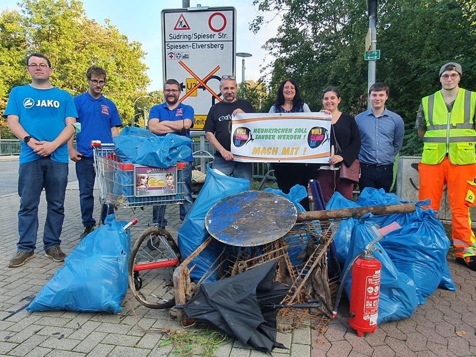 Freie Wähler Neunkirchen e.V beleidigten sich bei der Aktionstag World Cleanup Day