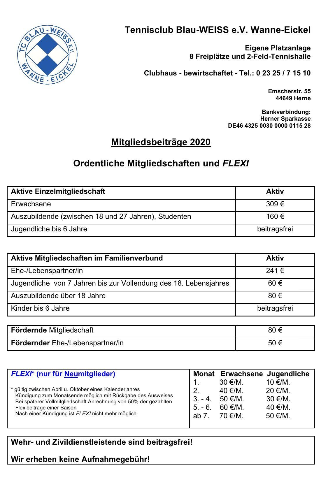 Mitglied werden beim TC Blau-Weiß Wanne-Eickel