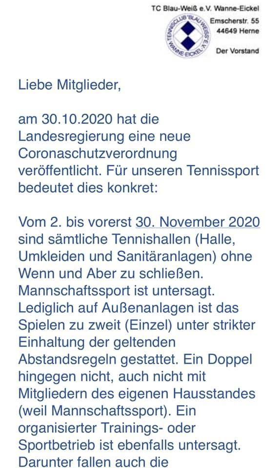 Aktuelles   TC Blau-Weiß e.V. Wanne-Eickel
