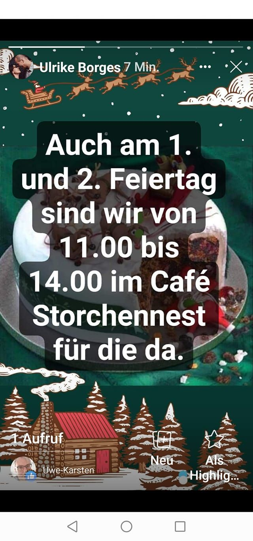 Aktuell   Cafe unterm Storchennest