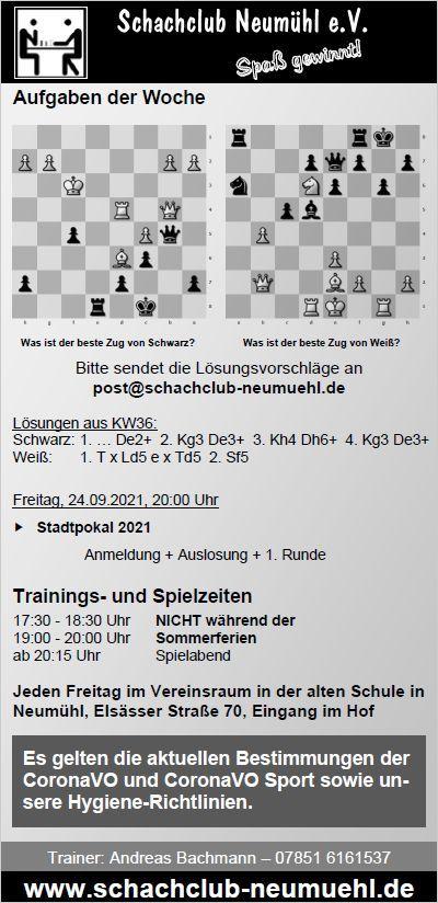 News   Schachclub Neumühl