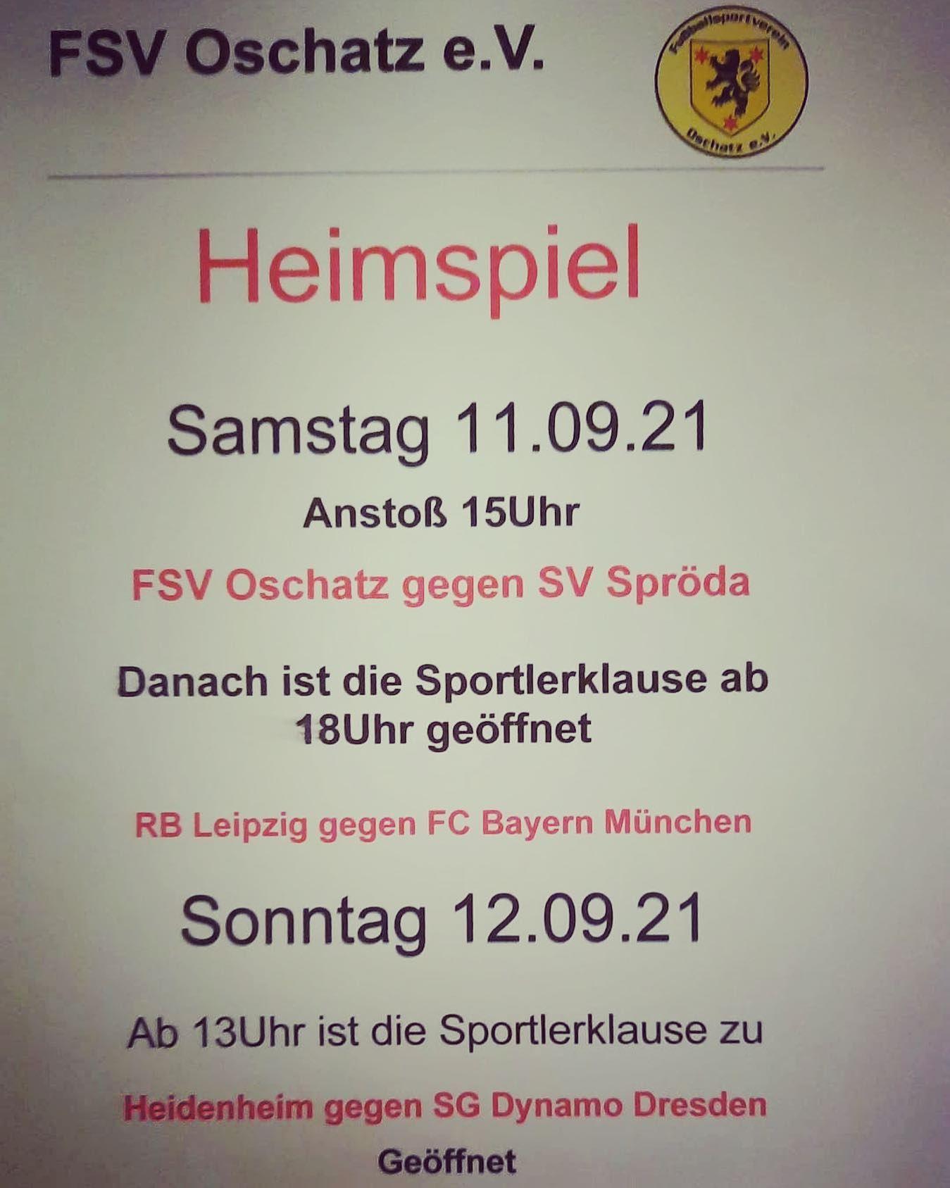 Aktuelle Neuigkeiten | FSV Oschatz e.V.