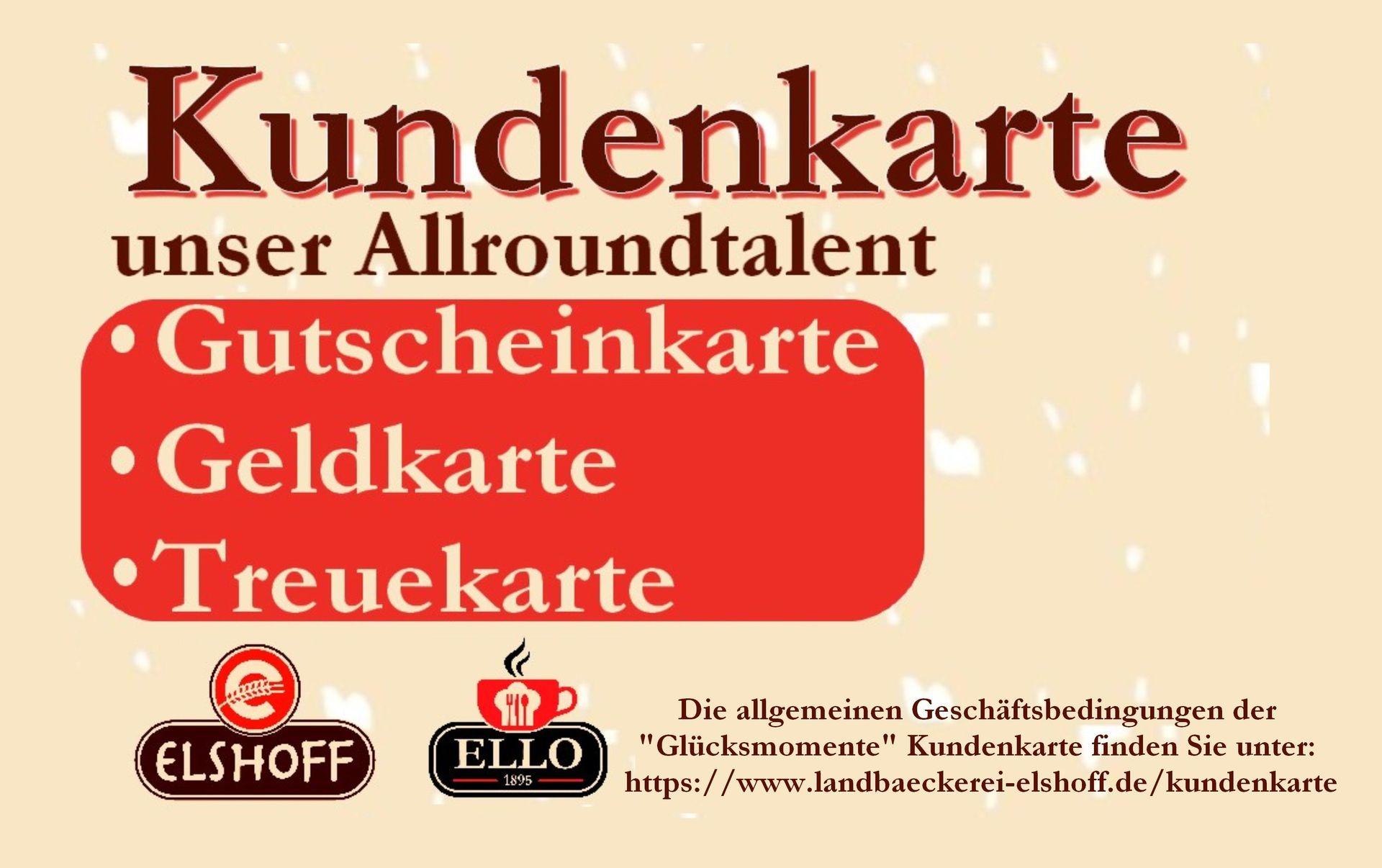 Kundenkarte | Landbäckerei Elshoff