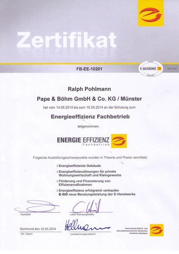 Energieeffizienz | Pape & Böhm Elektrotechnik
