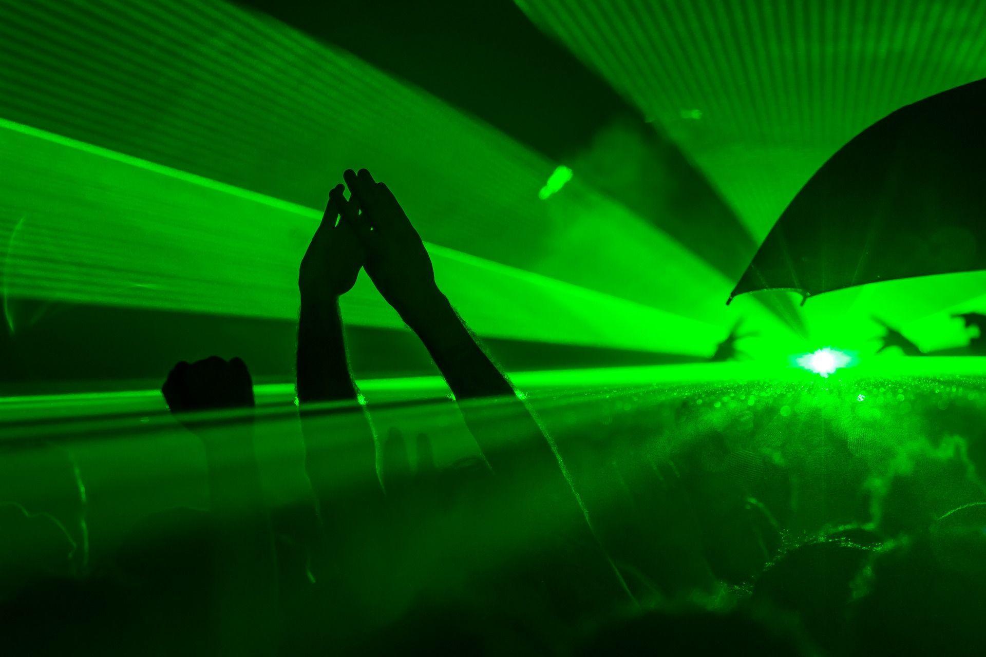 Werbung durch Lasershow mit unserem starken