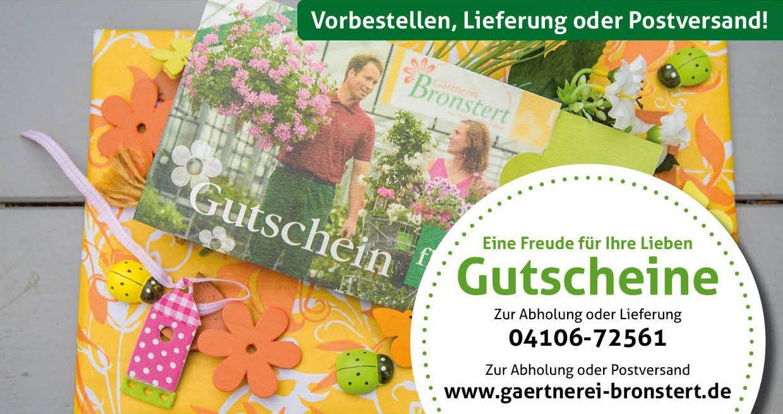 Unsere beliebten Gutscheine! | Gärtnerei Bronstert