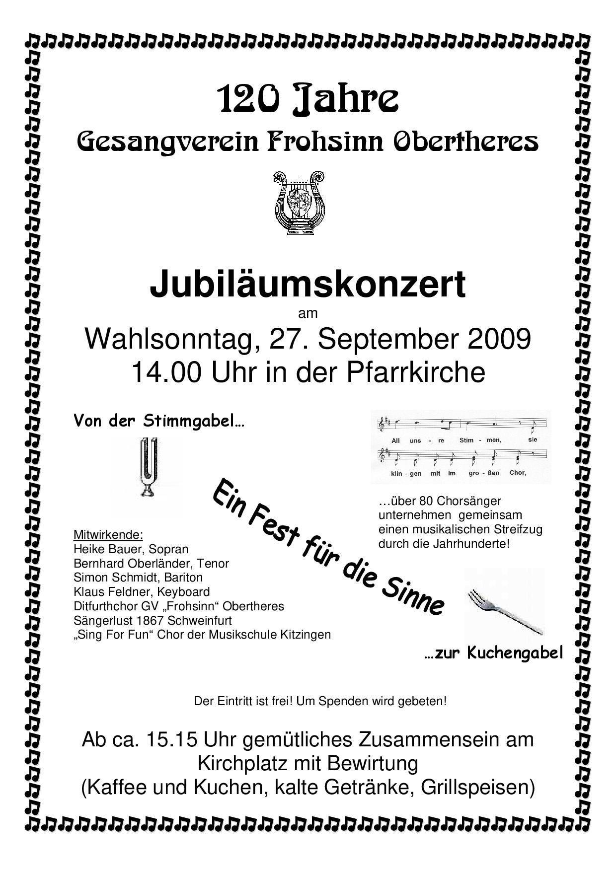 Unsere Sommerkonzerte seit 2009 - Die
