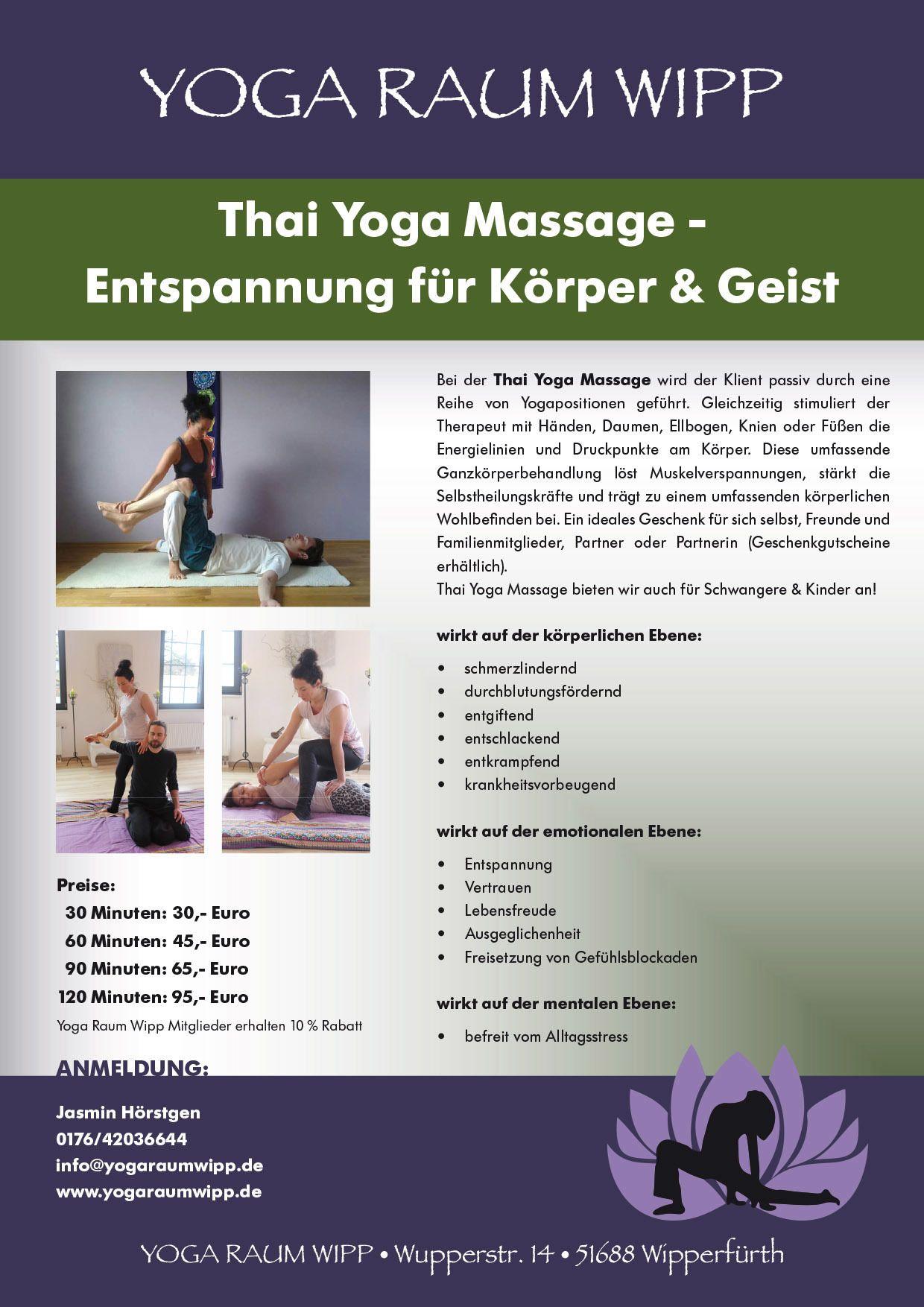 Massagen/Treatments - MASSAGE-Angebote