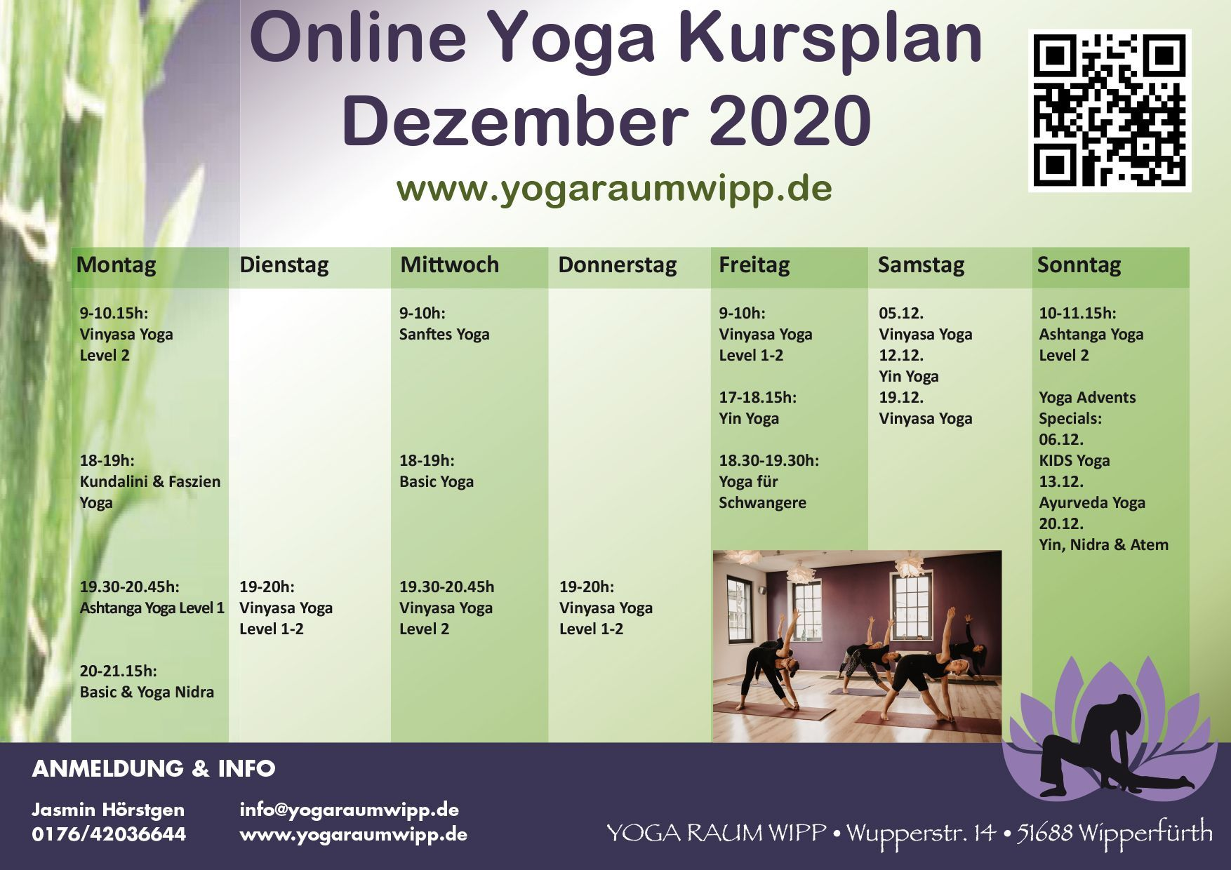 Kursplan 2020 | Yoga Raum Wipp