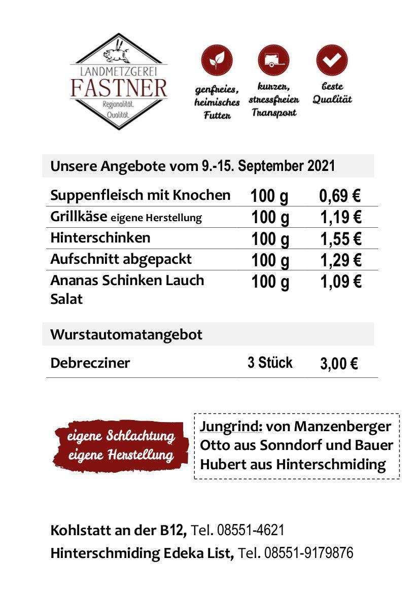 Wochen-Angebot | Metzgerei Fastner