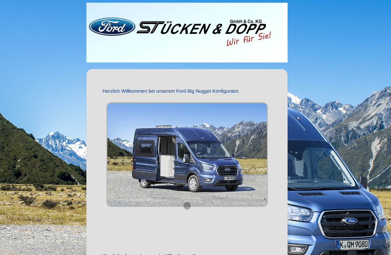 Ford Big Nugget Stücke & Dopp