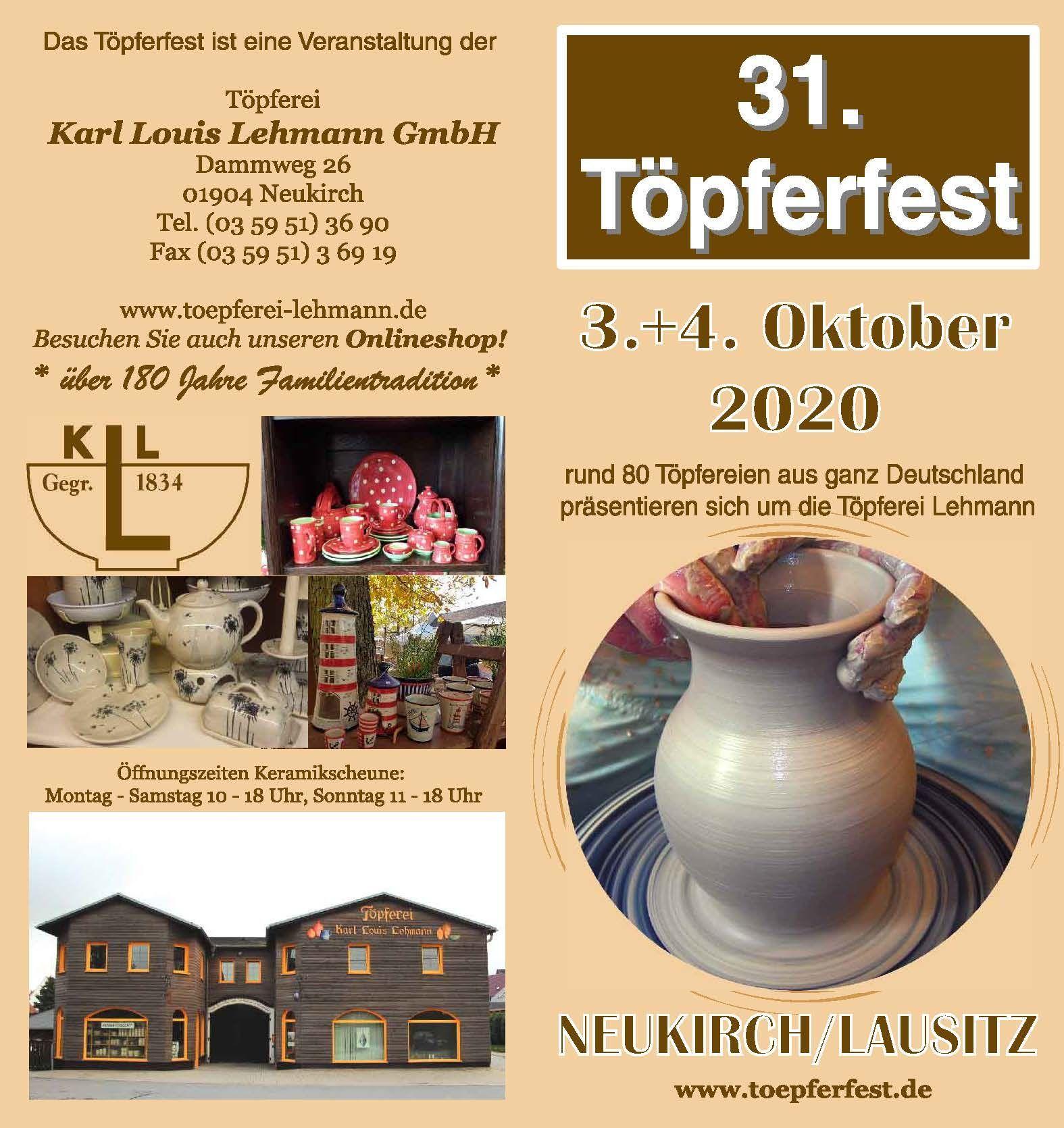 Programm 2020 | Töpferfest Neukirch/L.