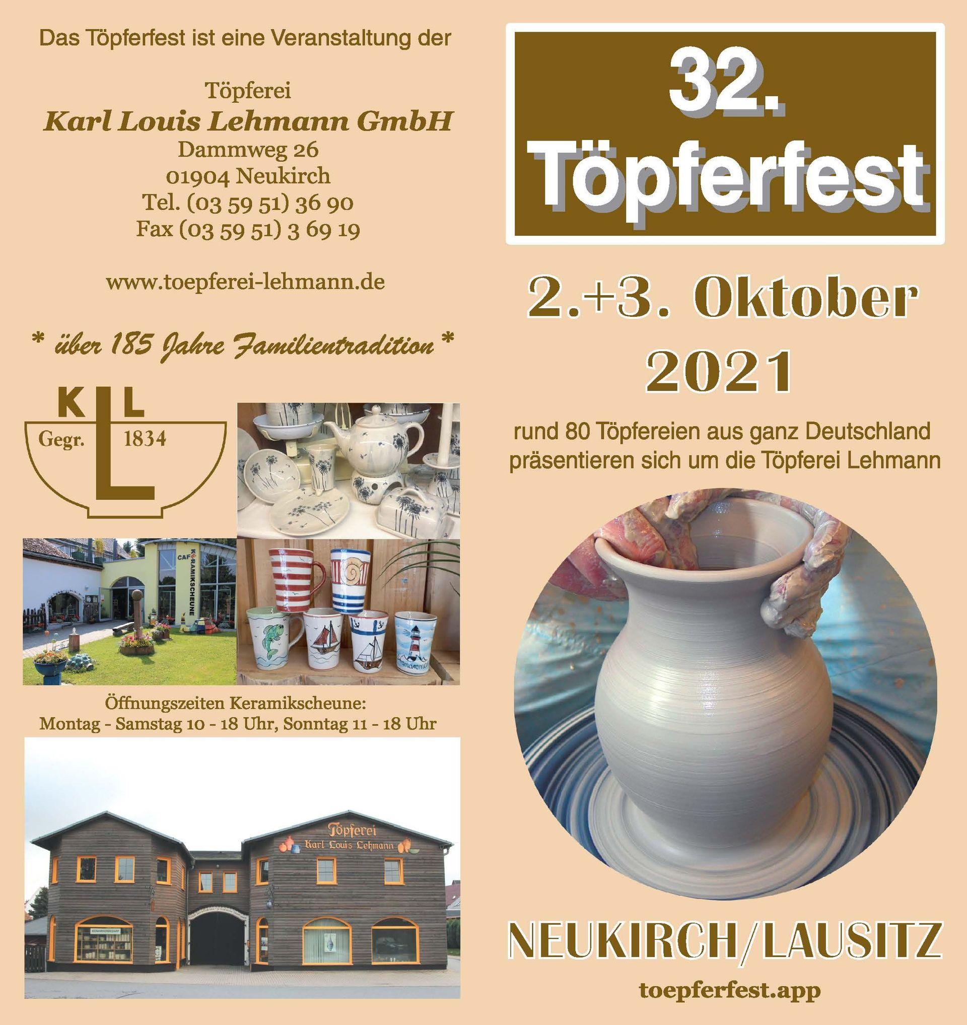 Programm 2021 | Töpferfest Neukirch/L.