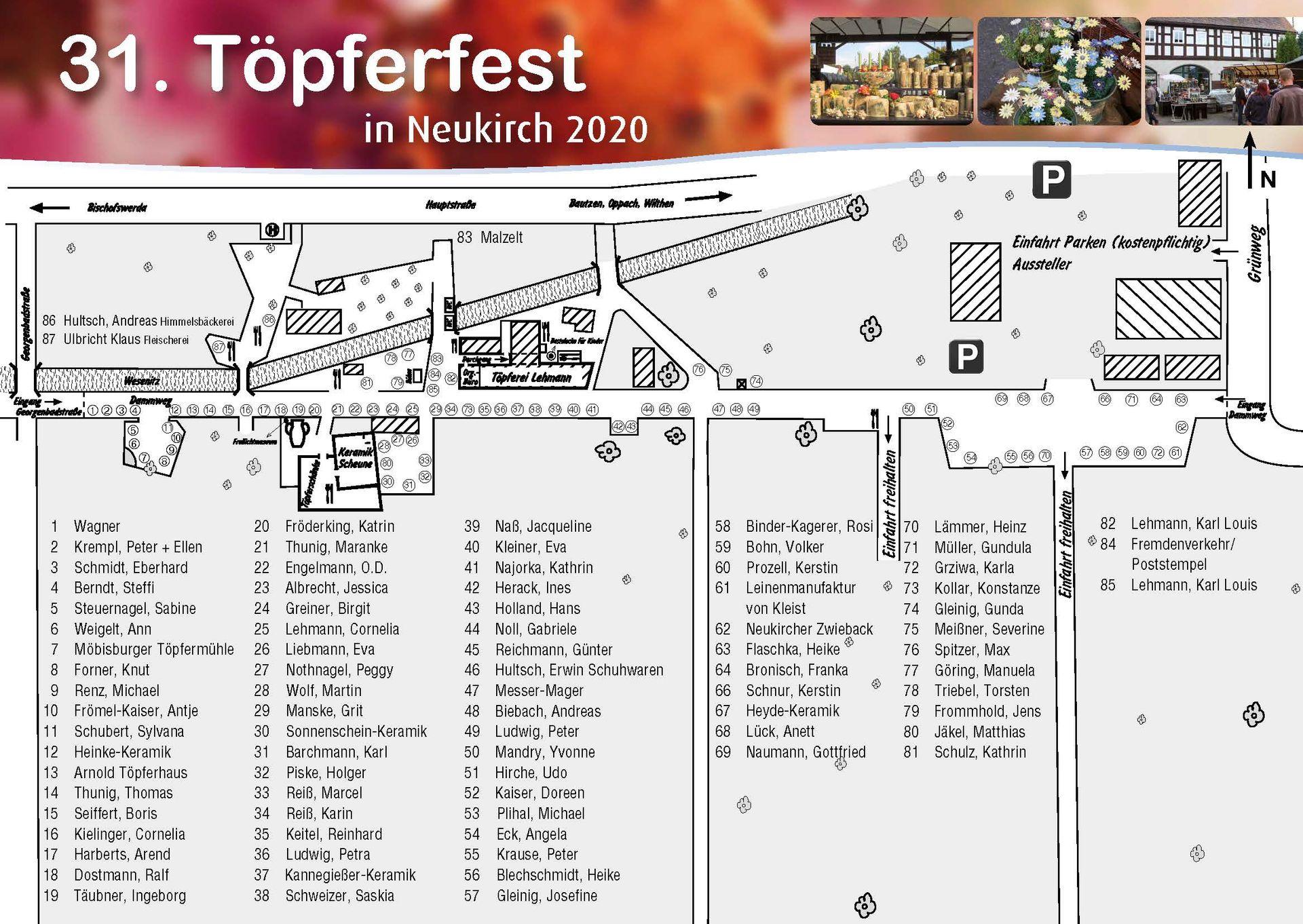 Standplan | Töpferfest Neukirch/L.