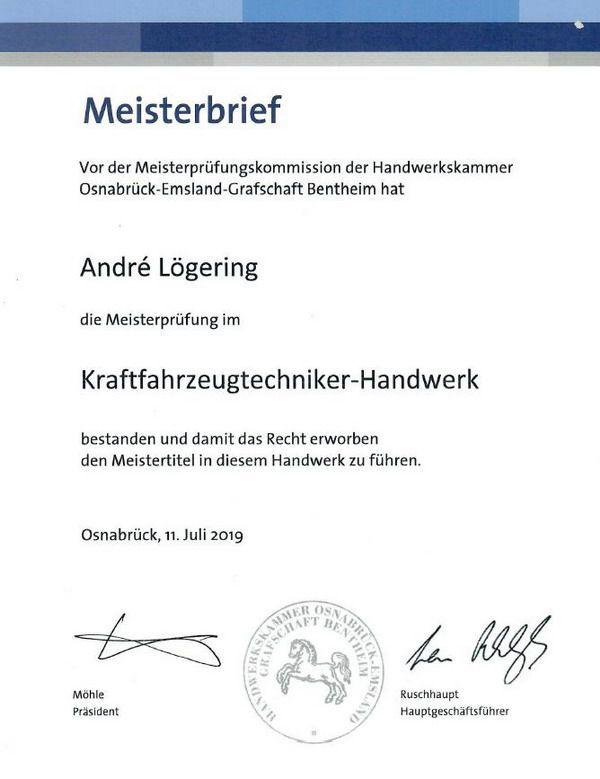 Auszeichnungen | Autohaus Lögering