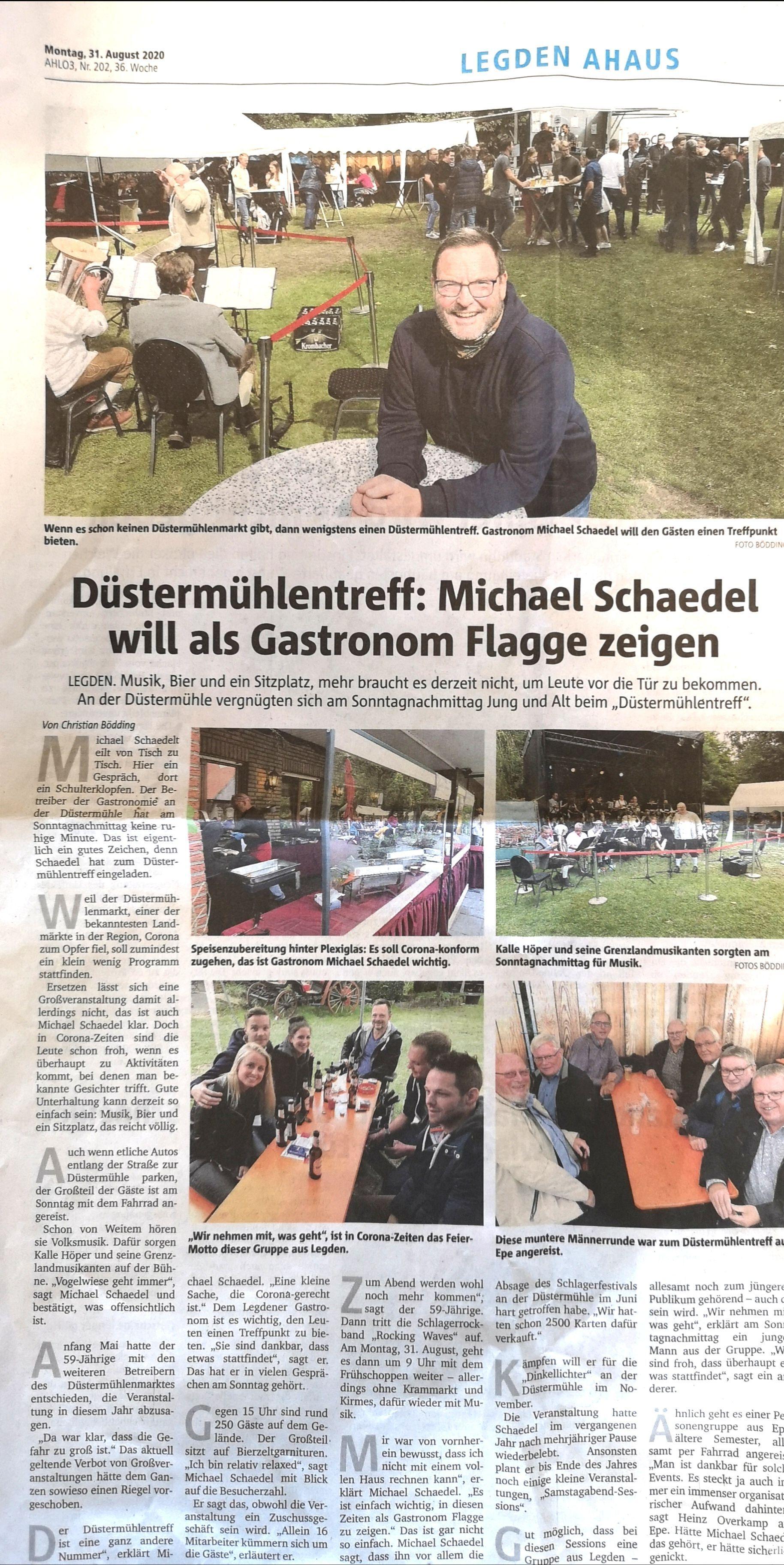 Aus der Presse..... | Landgasthof Zur Düstermühle