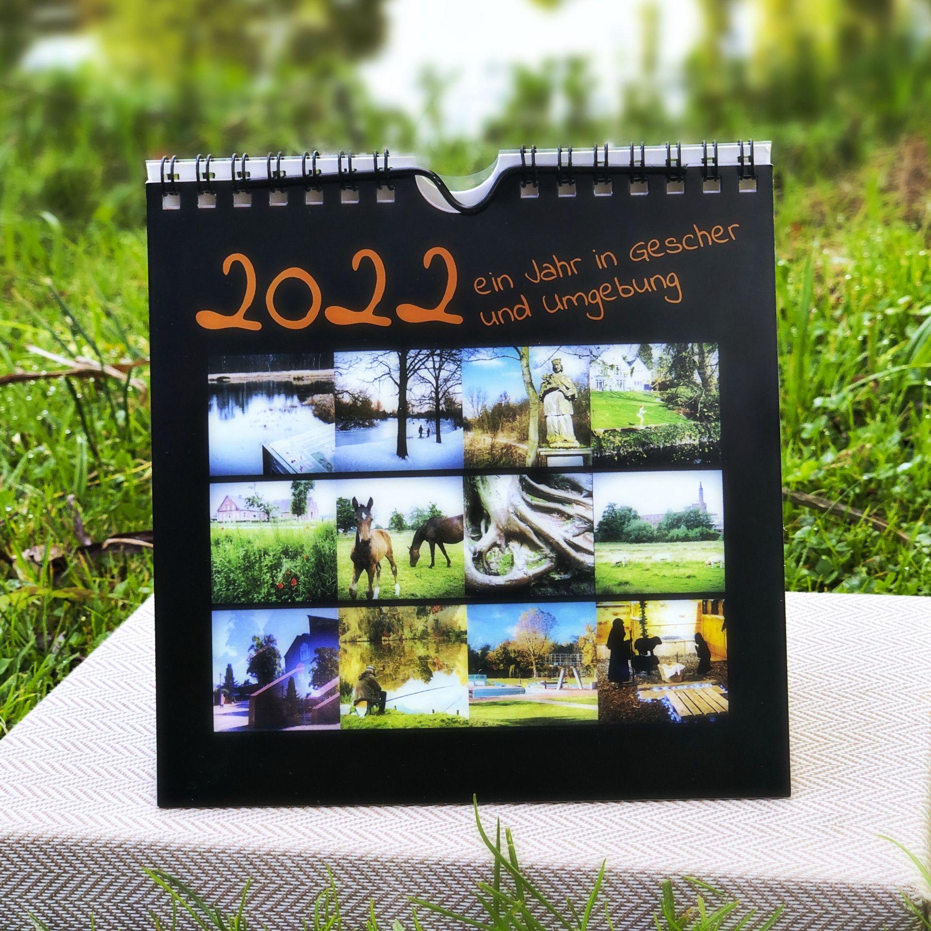 Gescher-Schreibtischkalender auch zum Aufhängen!