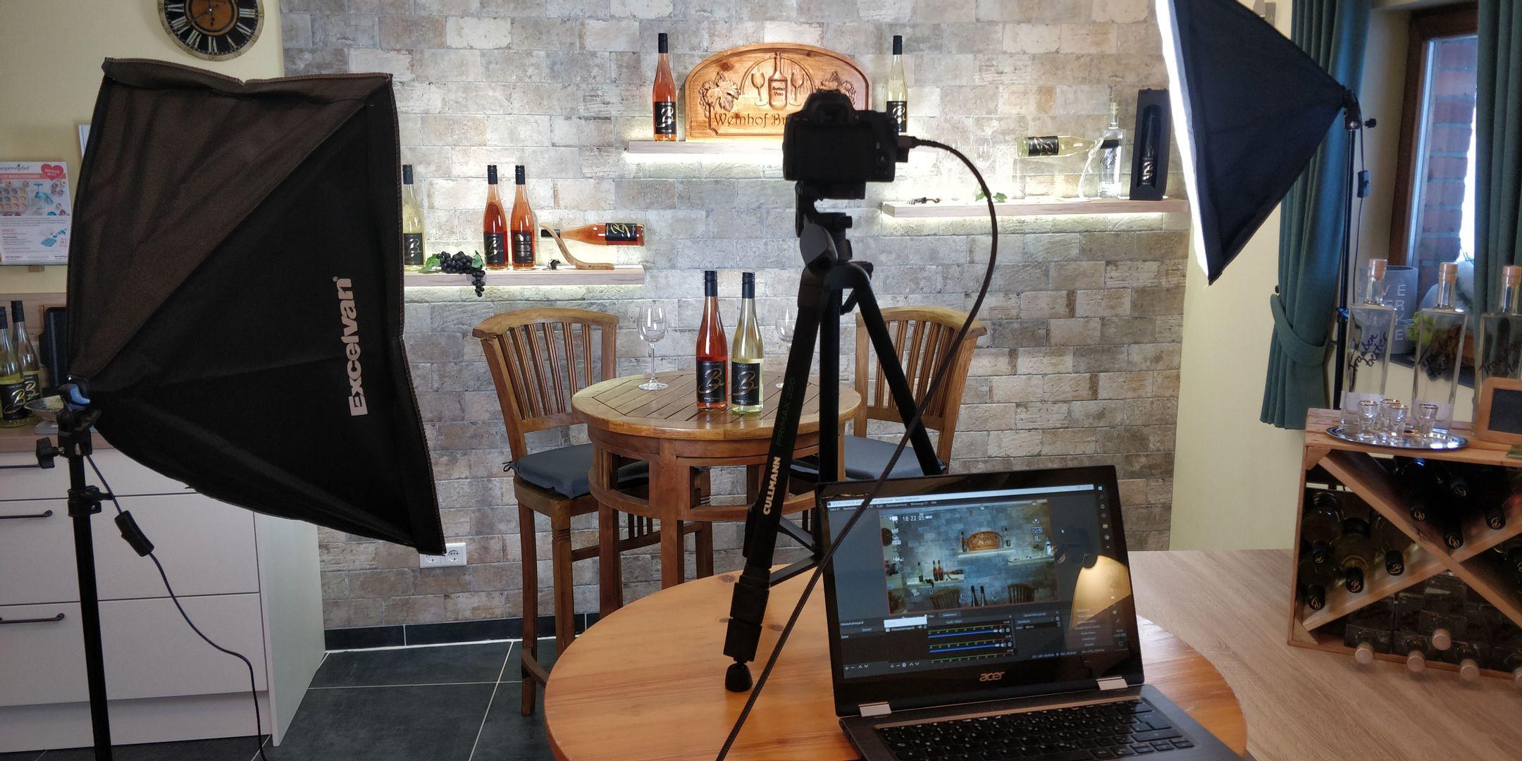 Unsere erste Online -Weinprobe - Online -