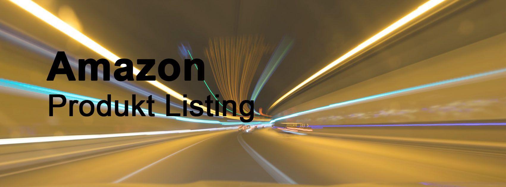 Amazon Listing Erstellung