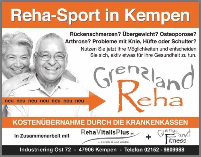 Rehasport im Grenzland Fitness - Rehasport Kempen