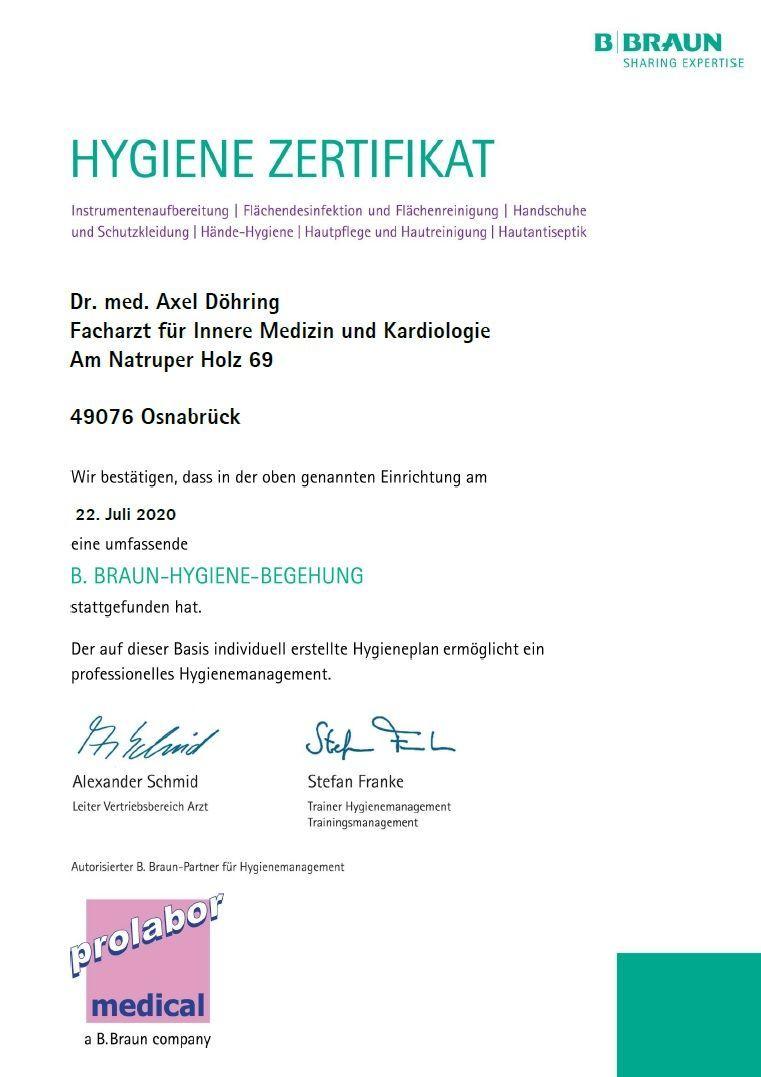 Hygiene-Zertifikat
