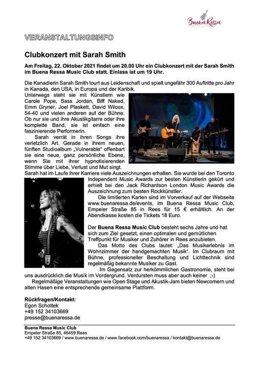 Aktuelle Neuigkeiten | Buena Ressa Music Club