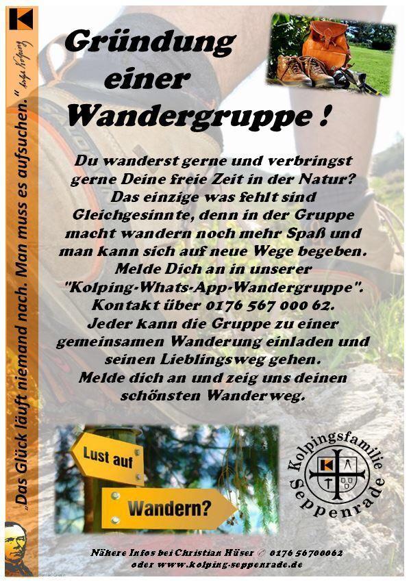 Wanderfreunde   Kolpingsfamilie Seppenrade