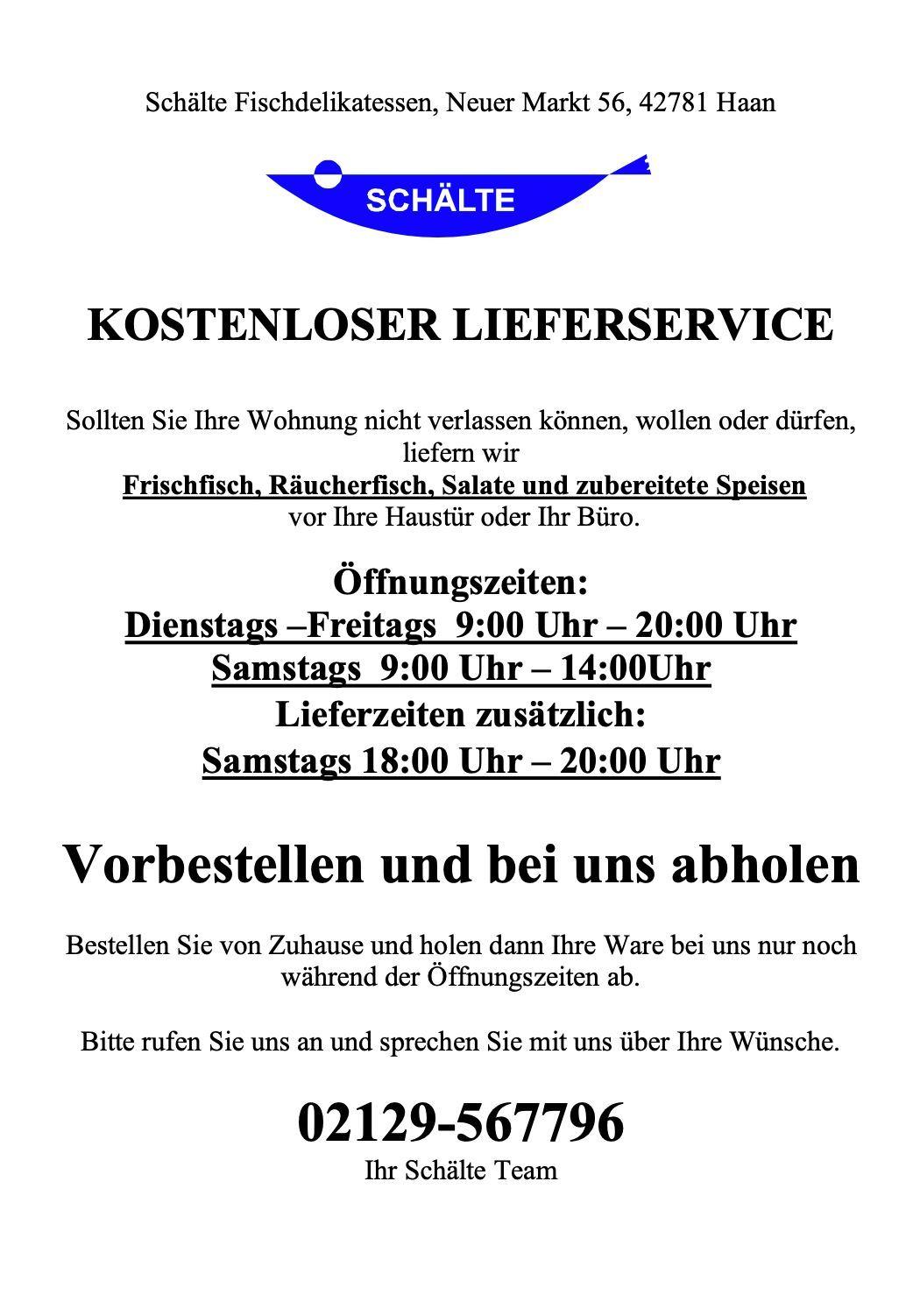 Schältes Fischrestaurant | ISG Solingen-Ohligs e